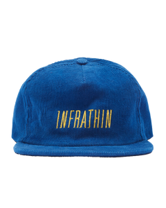 BLUE CAP WITH YELLOW LOGO