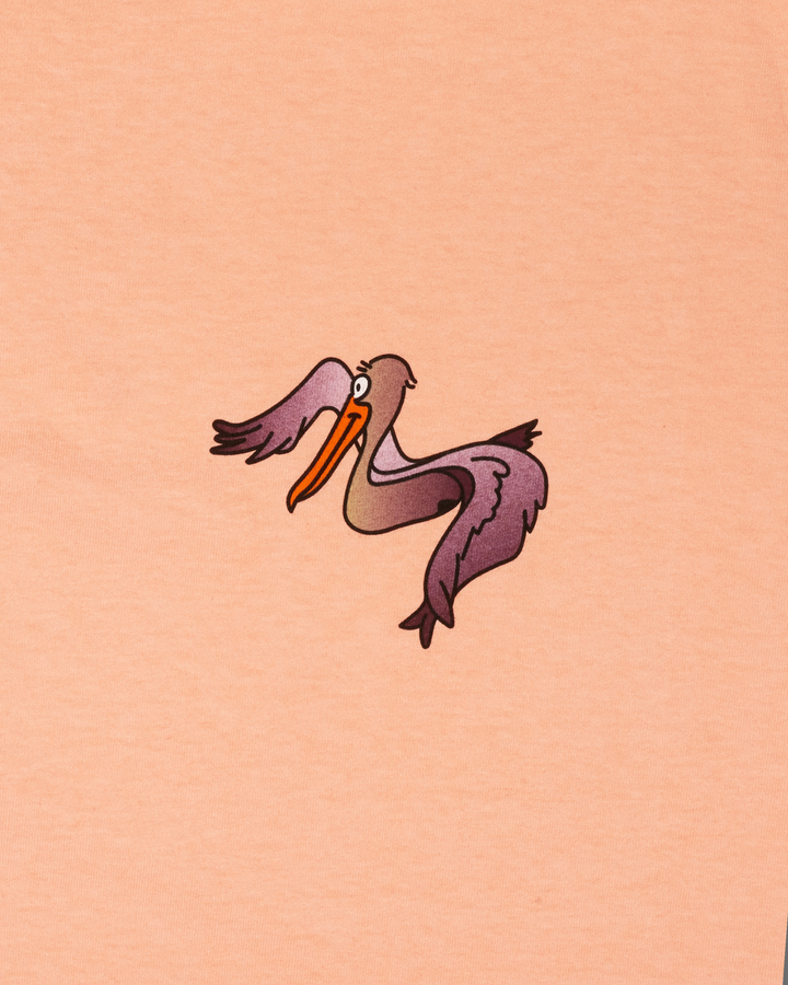 PEACH T-SHIRT WITH PELICAN