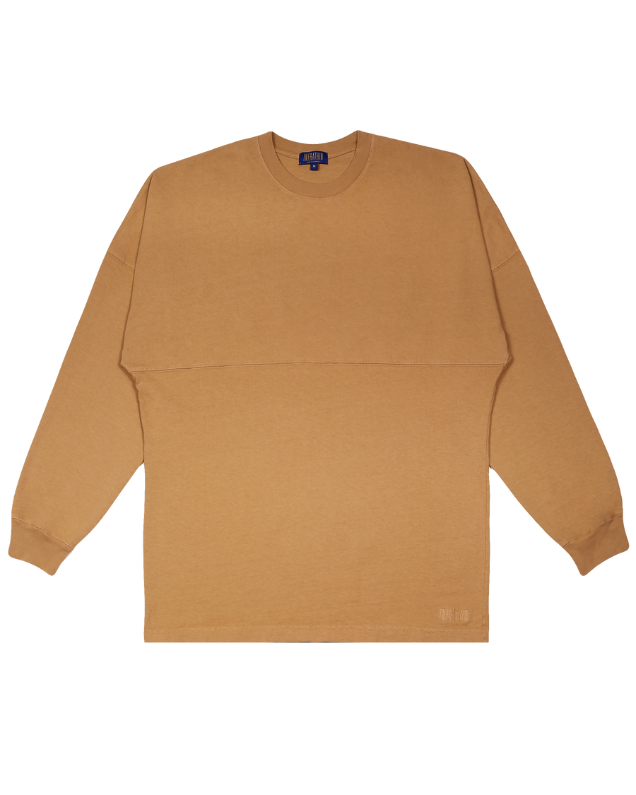 KHAKI OVERSIZED LONG SLEEVE