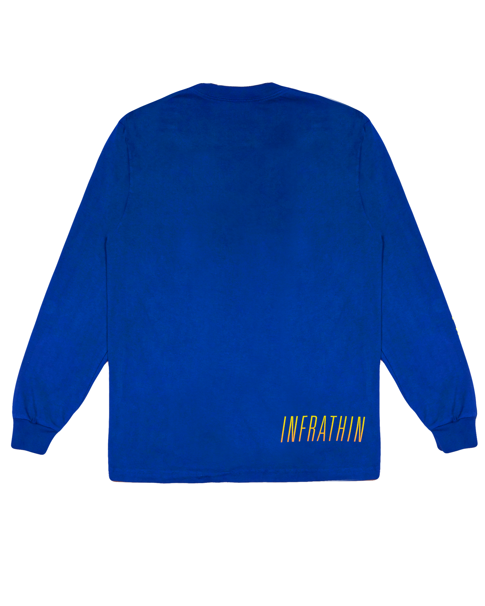 INFRATHIN BLUE LONG SLEEVE WITH GRADIENT WAVE AND LOGO