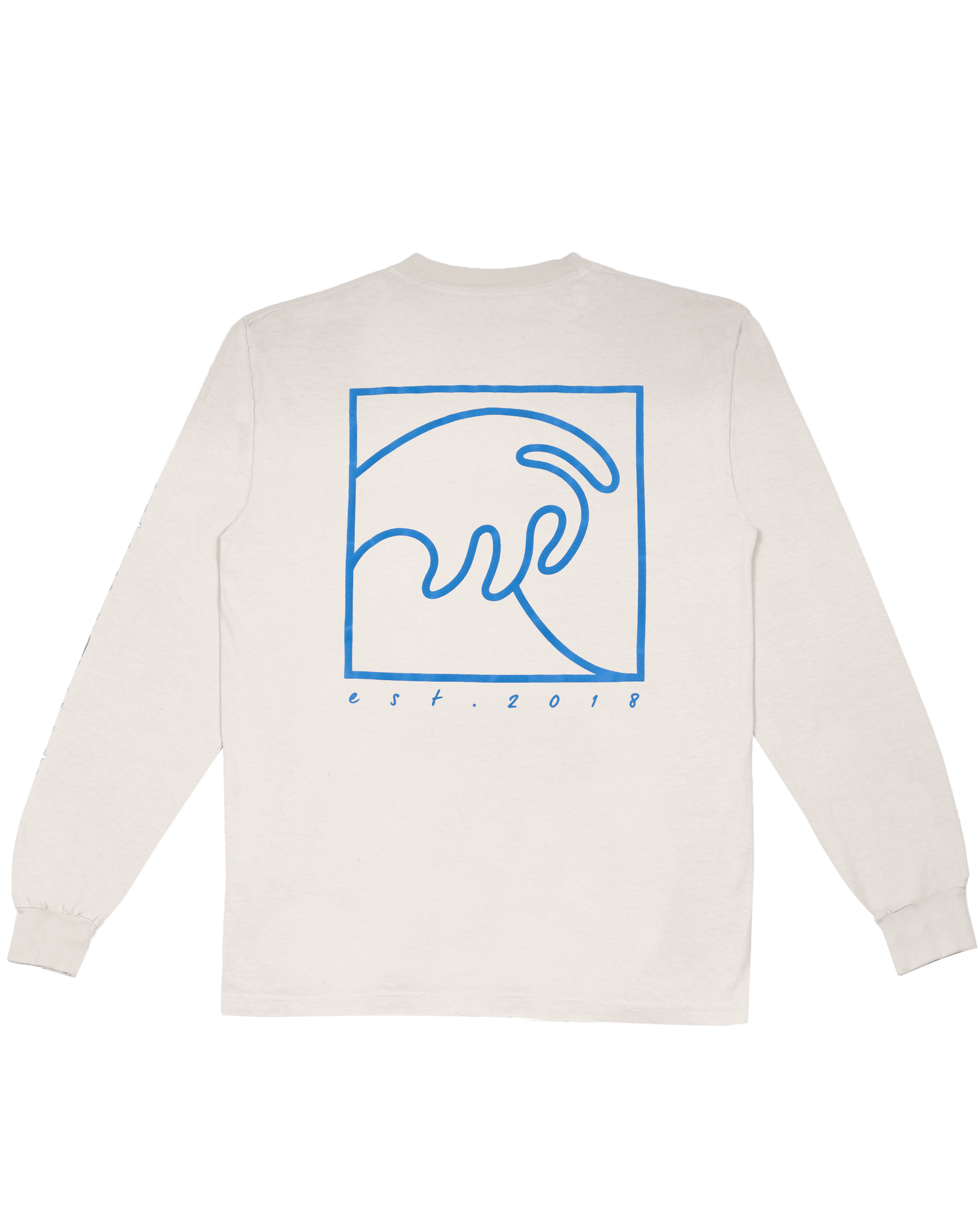 CEMENT LONG SLEEVE WITH PUFFY LOGO AND WAVE