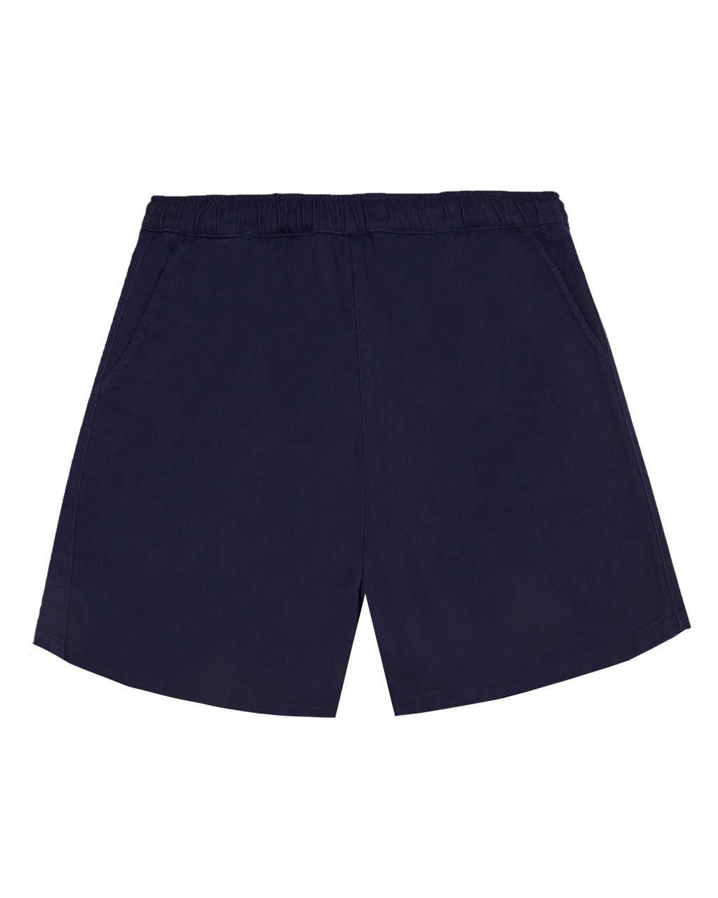 NAVY COTTON WALK SHORTS