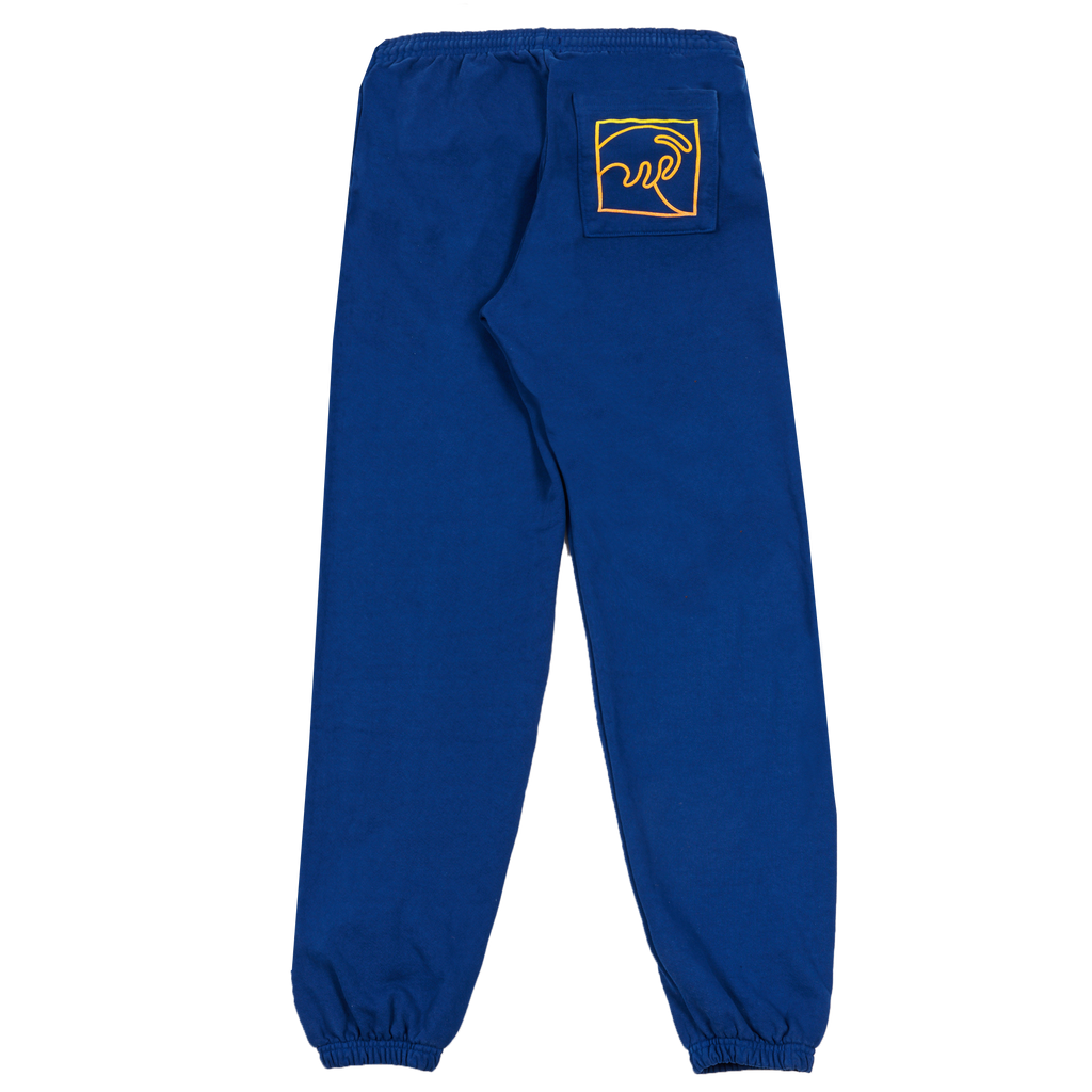 NAVY SWEAT PANT WITH PUFFY WAVE