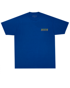 INFRATHIN BLUE T-SHIRT W/ GRADIENT LOGO AND WAVE