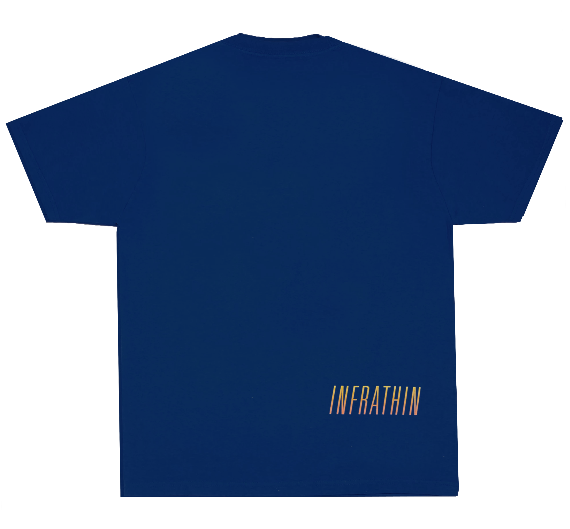 NAVY T-SHIRT WITH GRADIENT LOGOS