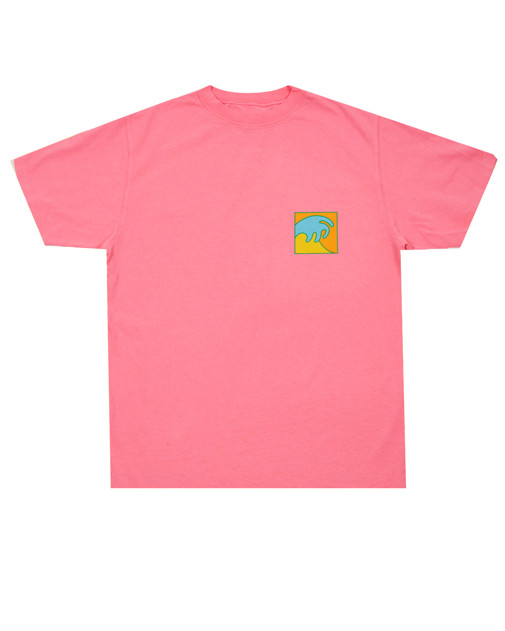 PINK T-SHIRT WITH MULTICOLOR WAVE