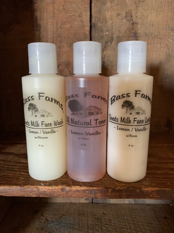 Face Set {4oz Face Wash, Face Toner & Face Lotion}