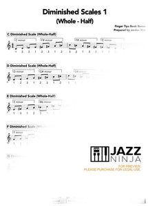 Diminished Scales 1 (Whole - Half) Exercises