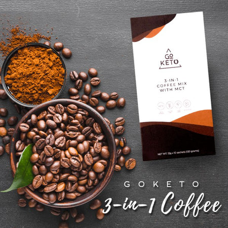 GoKeto 3 in 1 Coffee (10 sachets)