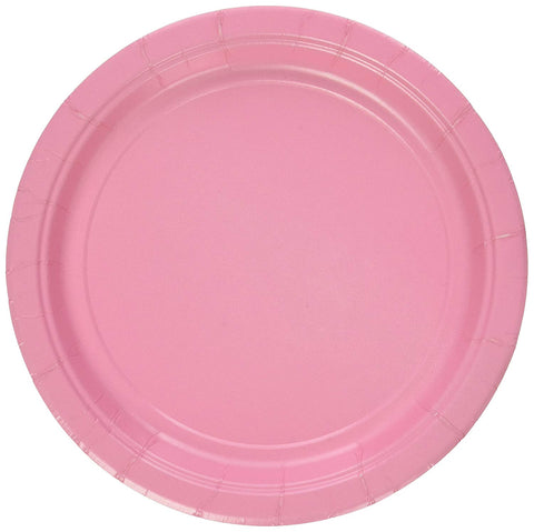 "20 Count | Pink 7"" Paper Plate"