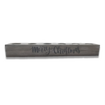 Tea Light Centerpiece | 18 inches long | Washed Gray Finish
