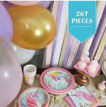 267 Piece | Unicorn Party Pack - Service for 24