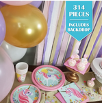 314 Piece | Ultimate Unicorn Party Pack - Service for 24