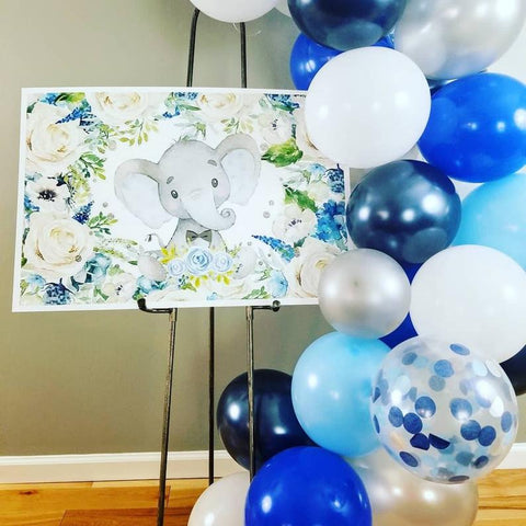 Balloon Garland Kit | Blue & Silver