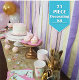 71 Piece | Unicorn Party Pack - Decorating Kit