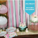 293 Piece | Boho Birthday Party Pack - Service for 24
