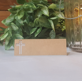 24 ct Peek-A-Boo Cross Place Card