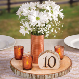 David Tutera™ Rustic Wood Slice Charger