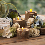 David Tutera™ Wooden Tea Light Holders: 6 Pack
