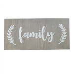 Decorative Wood Plaque | Family