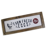 Farmhouse Sign | Fresh Eggs | 2 Feet Long