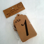 Over Sized Gift Tag Table Numbers | 1 through 12