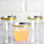 25 Count | Gold Rimmed Tumblers