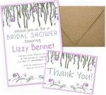 Bridal Shower Invitations with Thank You Cards | Hanging Gardens | Pack of 25