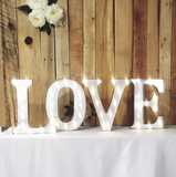 LOVE in Marquee Letters