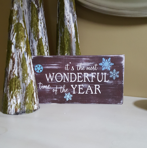 Decorative Wood Plaque | Wonderful Time of the Year