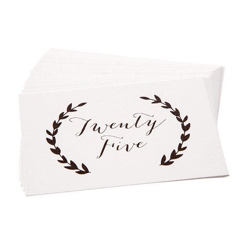 David Tutera™ Black & White Laurel Wreath Table Number Cards