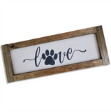 Farmhouse Signs | Love Paw Print | 2 Feet Long