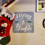 Wall Plaque | Merry & Bright