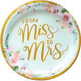 "8 Pieces | Miss to Mrs. 10.5"" Paper Plate"