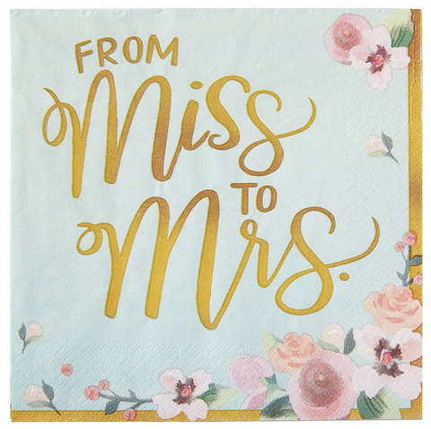 16 Pieces | Miss to Mrs. Luncheon Napkins
