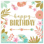 16 Count | Boho Birthday Luncheon Napkins