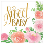16 Count | Sweet Baby Napkins