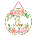 Floral Oh Baby Sign