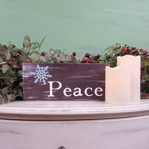 Decorative Wood Tile | Peace