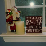 "Decorative Wood Tile | Silent Night | 5.5"" Square 