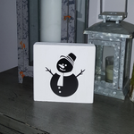 Decorative Wood Tile | Snowman