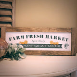 Farmhouse Sign | Fall Farm Market | 2 Feet Long