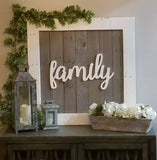 "Square Framed Pallet Sign (30"" x 30"") 