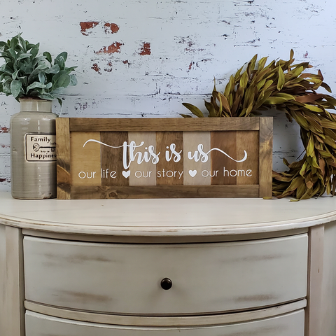 Farmhouse Sign | This is Us - Slatted | 2 Feet Long