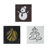 Decorative Wood Tiles | Set of Three Holiday