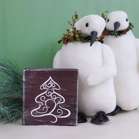 Decorative Wood Tile | Christmas Tree