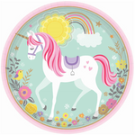 "8 Count | 9"" Unicorn Plate"