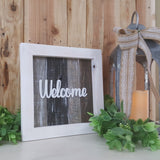 "Square Framed Pallet Sign (12"" x 12"") 
