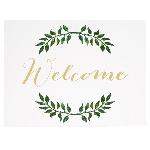 David Tutera™ Clear Wedding Welcome Sign W/Laurel Branch Design
