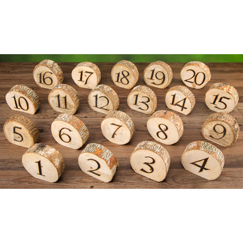 David Tutera™ Rustic Wedding Wood Slice Table Numbers